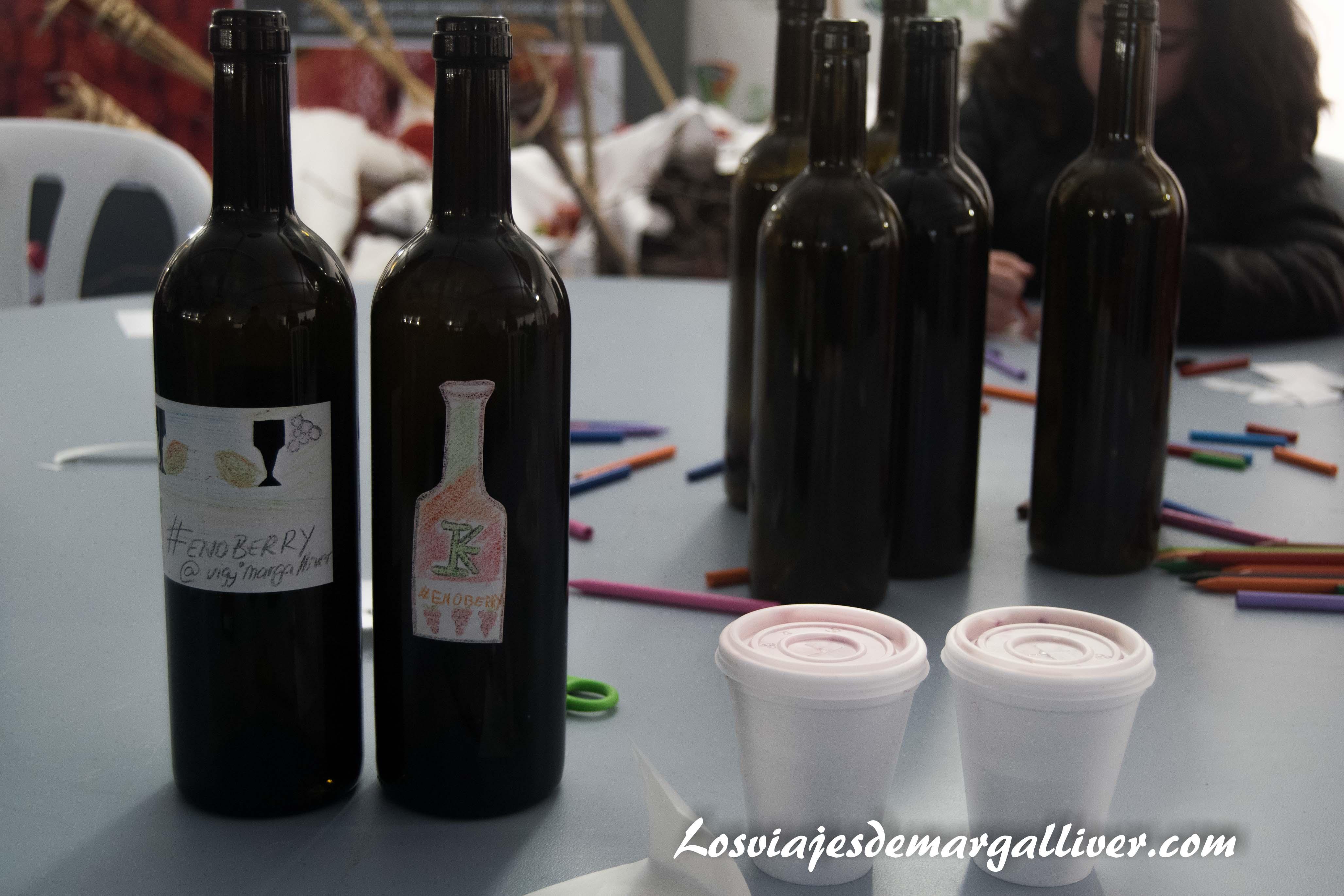 elaboración de etiquetas de vino personalizadas en Enoberry - Los viajes de Margalliver